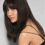 Clip in Human Hair Fringe by Hairdo